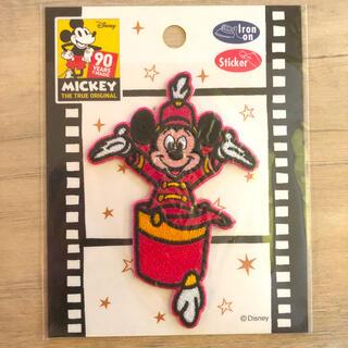 ディズニー(Disney)のミッキー 刺繍ワッペン(シールとしても貼付け可)(キャラクターグッズ)