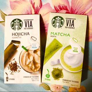 スターバックスコーヒー(Starbucks Coffee)の《三ヶ日限定 ドリ●クチ▲ットつき》ほうじ茶 & 抹茶 各5本 スターバックス(茶)