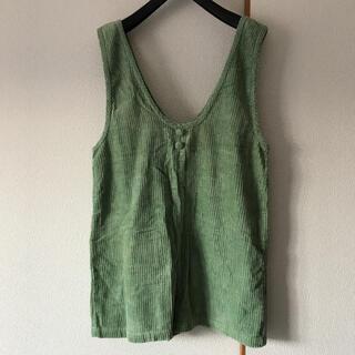 RETRO GIRL - 緑のコーデュロイサロペット