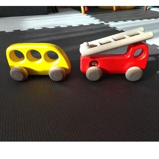 ボーネルンド(BorneLund)の車 おもちゃ 木製(電車のおもちゃ/車)