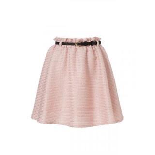 ユメテンボウ(夢展望)の・【新品】レディース ベルト付きフレアスカート Mサイズ ピンク(ミニスカート)