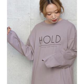 ダブルクローゼット(w closet)のwcloset ロゴ入りチュニックロンT(Tシャツ(長袖/七分))