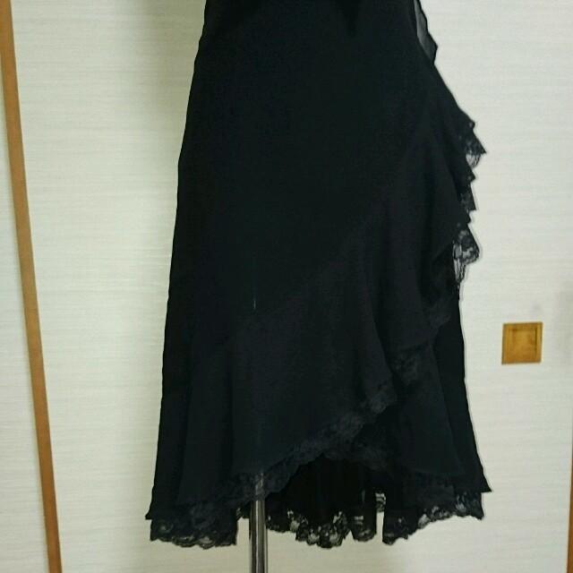 INGNI(イング)のフリルリボンブラックドレス ワンピース レディースのフォーマル/ドレス(ミディアムドレス)の商品写真