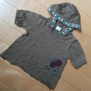 ハッカベビー(hakka baby)のフード付きシャツ(Tシャツ/カットソー)