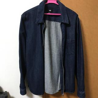 H&M デニムシャツジャケット ドリズラージャケット インディゴ(Gジャン/デニムジャケット)