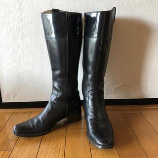 レリアン(leilian)の黒ロングブーツ(ブーツ)