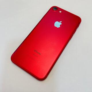 アイフォーン(iPhone)の美品 iPhone 7 Red 128 GB SIMフリー 傷なし 本体(スマートフォン本体)