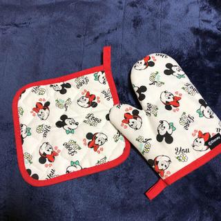 ディズニー(Disney)のミッキー&ミニー鍋敷きと鍋つかみ【ゼクシィ付録】(キッチン小物)