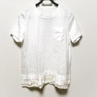 サカイ(sacai)のサカイ 半袖カットソー サイズ3 L - 白(カットソー(半袖/袖なし))