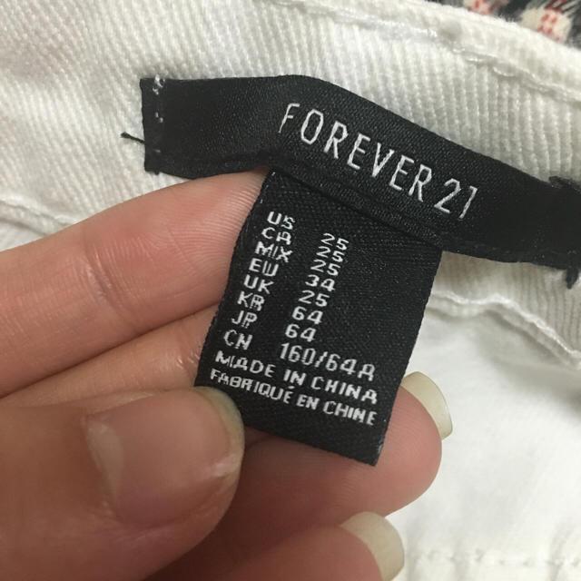 FOREVER 21(フォーエバートゥエンティーワン)のforever21☆ホワイト☆デニム☆ レディースのパンツ(ショートパンツ)の商品写真