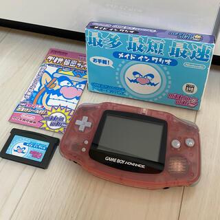 ゲームボーイアドバンス(ゲームボーイアドバンス)のゲームボーイアドバンス ピンク 本体 ソフトセット(携帯用ゲーム機本体)