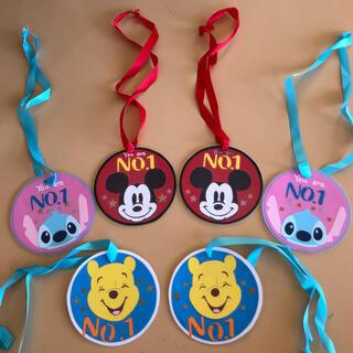 ディズニー(Disney)のハンドメイド メダル(キーホルダー/ストラップ)