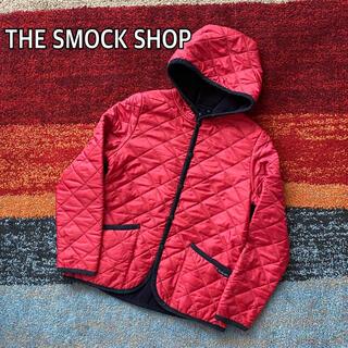 スモックショップ(THE SMOCK SHOP)のTHE SMOCK SHOP  スモックショップ キルティングジャケット レッド(ナイロンジャケット)