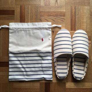 ラルフローレン(Ralph Lauren)のラルフローレン ルームシューズ 巾着付き 未使用(スリッパ/ルームシューズ)