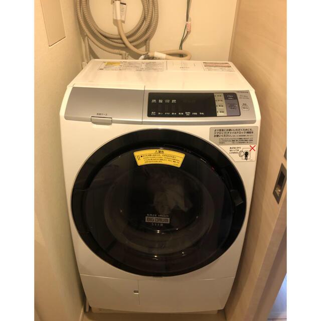 日立(ヒタチ)の日立洗濯機BD-SV100ALヒートリサイクル 風アイロン ビックドラム スリム スマホ/家電/カメラの生活家電(洗濯機)の商品写真