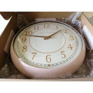 ローラアシュレイ(LAURA ASHLEY)の新品☆ローラアシュレイ ピンクレトロクロック 時計(掛時計/柱時計)