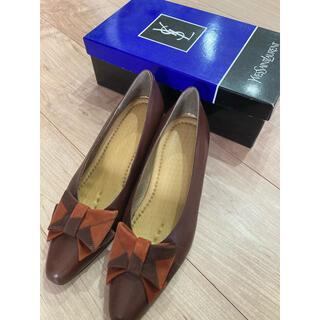 パンプス イブサンローラン リボン 靴(ハイヒール/パンプス)