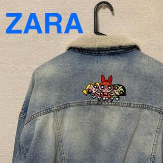ZARA - ZARA ボアデニムジャケット パワーパフガールズ
