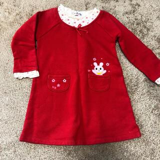 ホットビスケッツ(HOT BISCUITS)のホットビスケッツ ワンピース 100cm レイヤード風 女の子 子供服(ワンピース)
