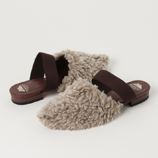 ベッドアンドブレックファスト(BED&BREAKFAST)のボアフラットシューズ(ローファー/革靴)