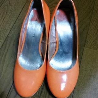 オレンジパンプス♡(ハイヒール/パンプス)