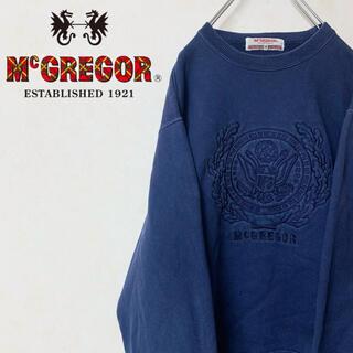 McGREGOR - McGREGOR マックレガー 90年代 スウェット トレーナー 勲章 刺繍