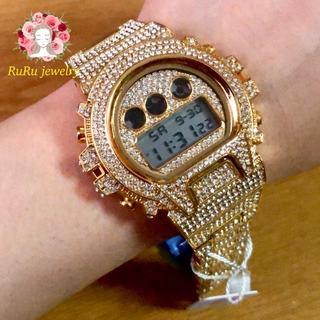 ラスト missfox   金属アレルギー対応 全面カスタム 腕時計 メンズ(腕時計(デジタル))