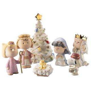 ピーナッツ(PEANUTS)の2月末まで【新品未使用】レノックス ピーナッツ クリスマス フィギュア(置物)