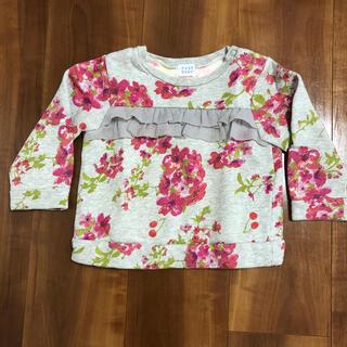 ハッカベビー(hakka baby)のハッカベビー❀90 花柄裏起毛トレーナー(Tシャツ/カットソー)