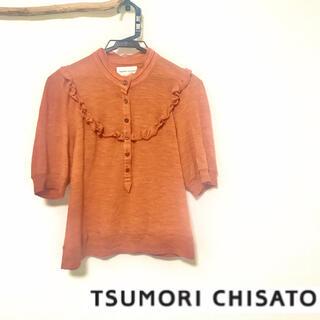 ツモリチサト(TSUMORI CHISATO)のツモリチサト ヴィンテージ レトロなフリルブラウス(シャツ/ブラウス(半袖/袖なし))