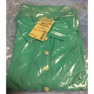ムジルシリョウヒン(MUJI (無印良品))の無印良品 半袖 ポロシャツ アクアブルー Lサイズ 新品未使用(ポロシャツ)