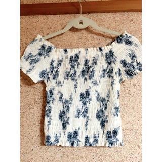 ミスティウーマン(mysty woman)のオフショル トップス ショート丈(Tシャツ(半袖/袖なし))