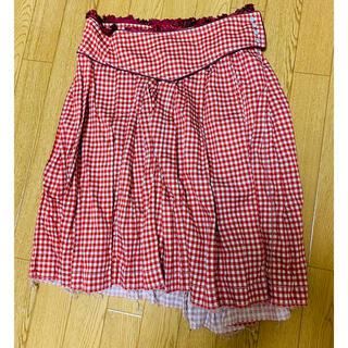 フラボア(FRAPBOIS)のFRAPBOIS ギンガムスカート(ひざ丈スカート)
