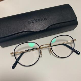 ワンエルディーケーセレクト(1LDK SELECT)のEYEVAN Ferren GOLD/PIANO BLACK 眼鏡(サングラス/メガネ)
