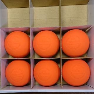 ラクロスボール ストレッチボール オレンジ6個(ヨガ)