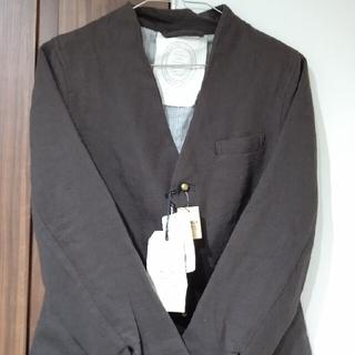 ネストローブ(nest Robe)のグランマママドーター新品ウールリネンノーカラージャケット(ノーカラージャケット)
