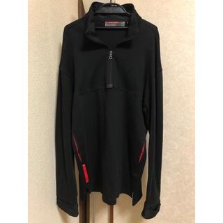 プラダ(PRADA)のプラダ スポーツウェア ポケット付き 黒色(パーカー)