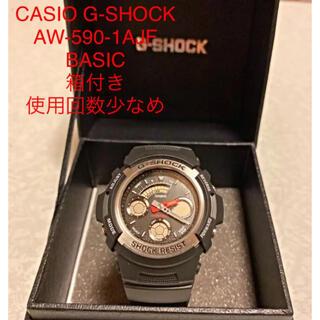 ジーショック(G-SHOCK)のCASIO G-SHOCK 腕時計 AW-590-1AJF BASIC 箱付き(腕時計(デジタル))