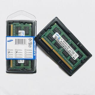 サムスン(SAMSUNG)の新品x2枚8gb DDR3 ノートパソコン用メモリ16GBセット(ノートPC)