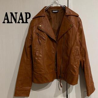 アナップ(ANAP)のANAP ライダースジャケット フェイクレザージャケット(ライダースジャケット)