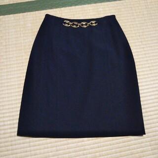 セリーヌ(celine)のセリーヌ スカート 36 ヴィンテージ 黒 ゴールド チェーン(ひざ丈スカート)