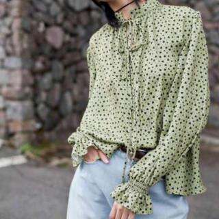 レイビームス(Ray BEAMS)のsolov little heart blouse  cleopatra fig(シャツ/ブラウス(長袖/七分))