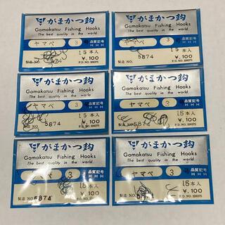 ガマカツ(がまかつ)のがまかつ 製  ヤマベ 3号 6袋セット (釣り糸/ライン)