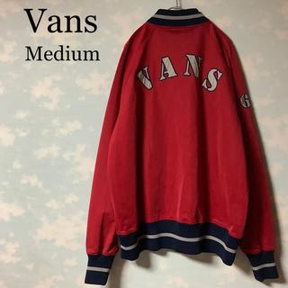 ヴァンズ(VANS)のVANS トラックトップ スニーカー ジャージ 襟なし レッド ヴィンテージ古着(ジャージ)