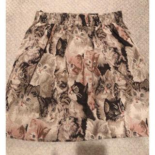 スワンキス(Swankiss)のゴブラン ねこ スカート(ひざ丈スカート)