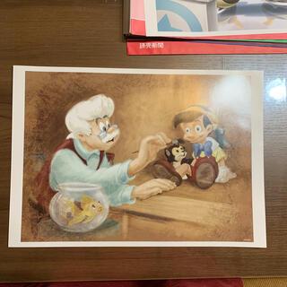 ディズニー(Disney)の非売品 ピノキオ ディズニー アートコレクション ポスター(絵画/タペストリー)