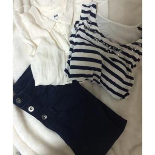 ジーユー(GU)のプチプラセット(シャツ/ブラウス(半袖/袖なし))