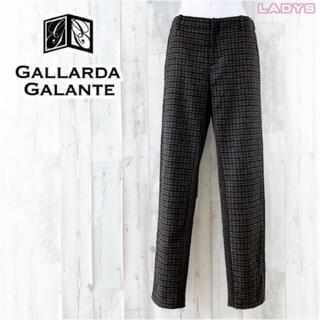 ガリャルダガランテ(GALLARDA GALANTE)のGALLARDAGALANTE ウールチェックスリムフィットイージーパンツ F(カジュアルパンツ)