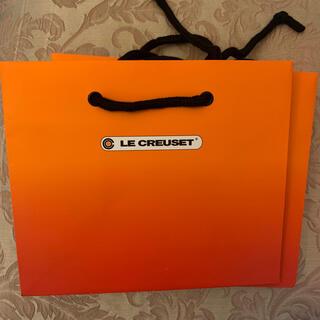 ルクルーゼ(LE CREUSET)のLE CREUSET ♡ル・クルーゼ♡グラデーションオレンジ♡ショッパー紙袋(ショップ袋)