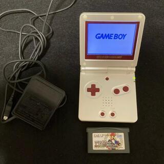 ゲームボーイ(ゲームボーイ)のゲームボーイアドバンス スーパーファミコン 動作品 マリオカート 充電器つき(家庭用ゲームソフト)